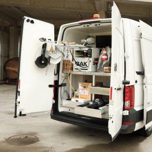 specijalno vozilo za CCTV inspekciju sustava